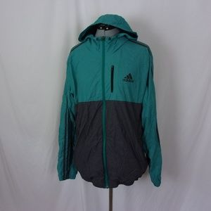 adidas Packable Jacket Large Adult Green Full Zip
